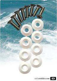 CORE Fin Screw Set and Washers, M6x18 or M6x22 - Online-Shop für Ozone-Kites, Core-Kites und Carved-Boards
